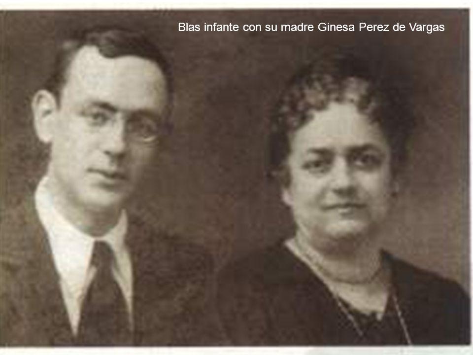 María Jesús Naranjo Infante Blas infante con su madre Ginesa Perez de Vargas