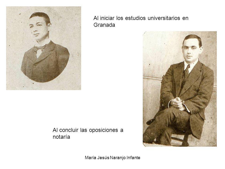 María Jesús Naranjo Infante Al concluir las oposiciones a notaría Al iniciar los estudios universitarios en Granada