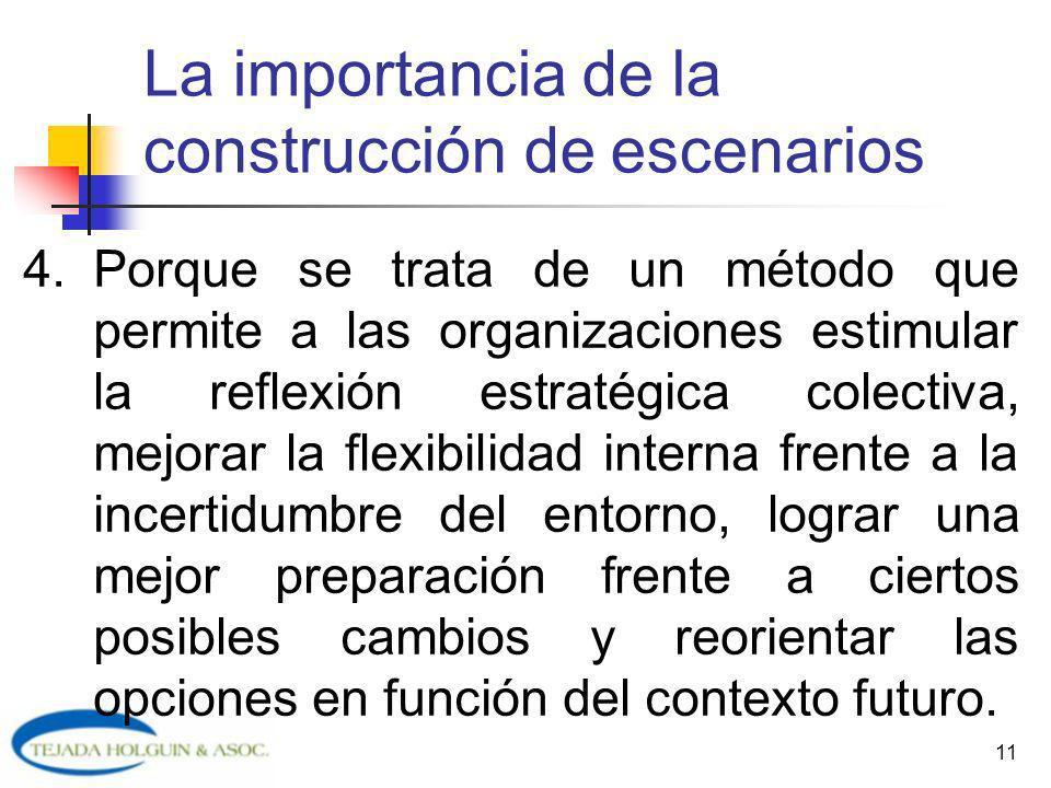11 4.Porque se trata de un método que permite a las organizaciones estimular la reflexión estratégica colectiva, mejorar la flexibilidad interna frent