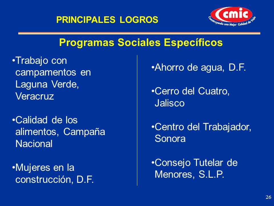 26 Trabajo con campamentos en Laguna Verde, Veracruz Calidad de los alimentos, Campaña Nacional Mujeres en la construcción, D.F. Programas Sociales Es