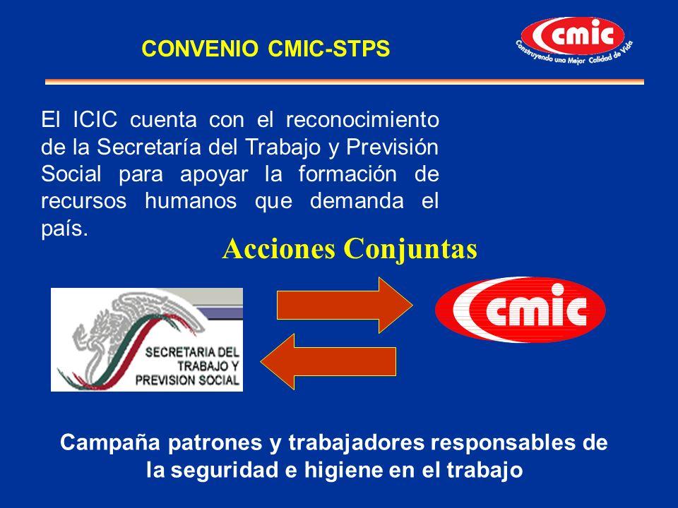 El ICIC cuenta con el reconocimiento de la Secretaría del Trabajo y Previsión Social para apoyar la formación de recursos humanos que demanda el país.
