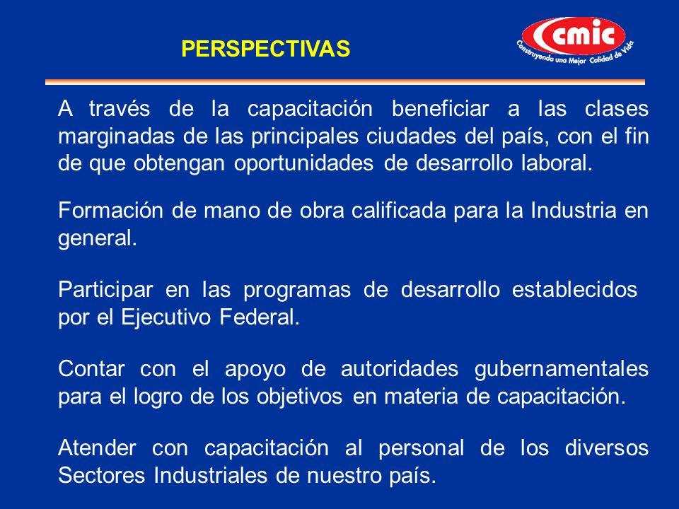 A través de la capacitación beneficiar a las clases marginadas de las principales ciudades del país, con el fin de que obtengan oportunidades de desar