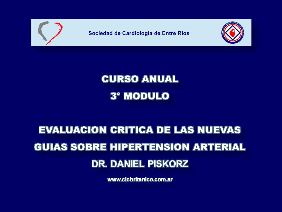 EL MEDICO EN EL CONSULTORIO Aatola H.Hypertension 2010; 55: 806 – 811.