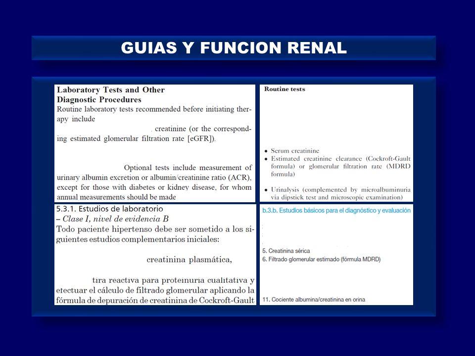 GUIAS Y FUNCION RENAL