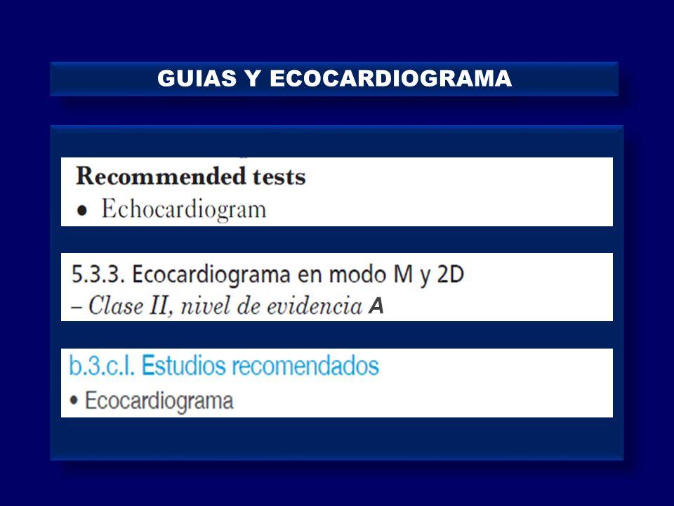GUIAS Y ECOCARDIOGRAMA A