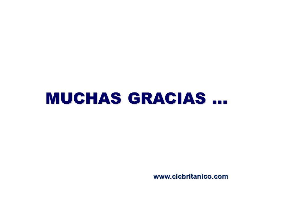 MUCHAS GRACIAS... www.cicbritanico.com