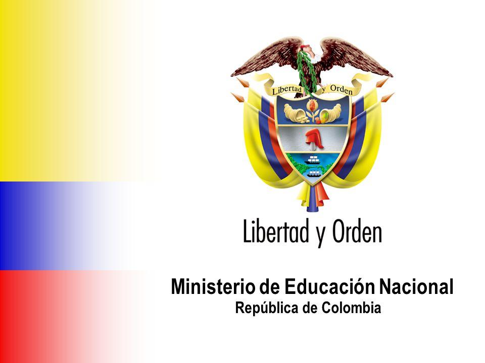 Ministerio de Educación Nacional República de Colombia DIRECCION CALIDAD DE EDUCACIÓN PREESCOLAR, BÁSICA Y MEDIA SUBDIRECCIÓN DE ARTICULACIÓN EDUCATIVA E INTERSECTORIAL Marzo de 2007 Ministerio de Educación Nacional República de Colombia