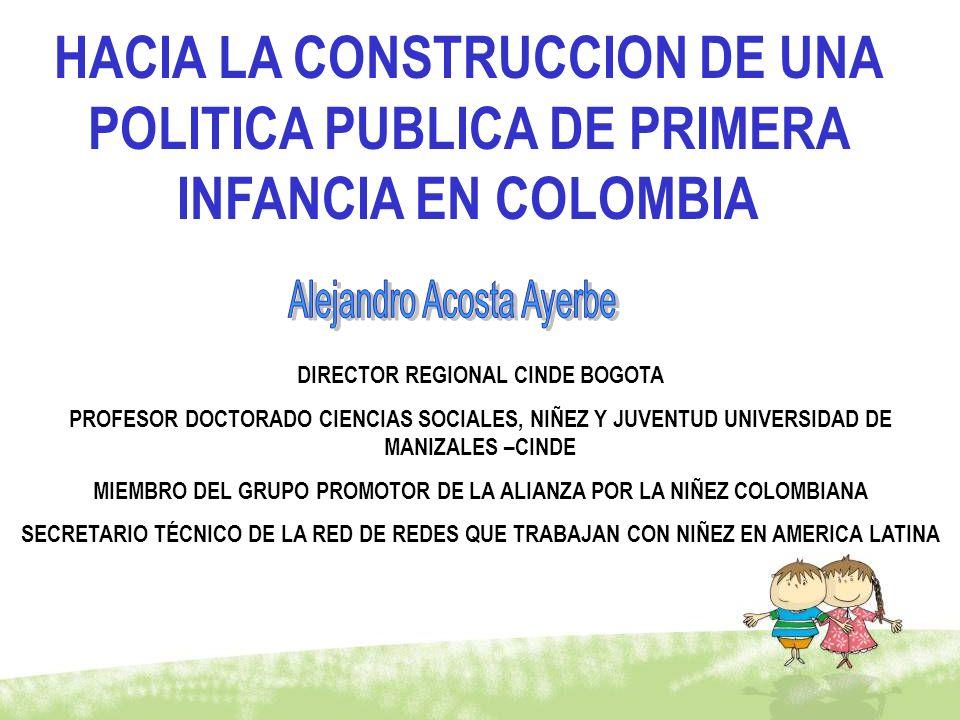 DIRECTOR REGIONAL CINDE BOGOTA PROFESOR DOCTORADO CIENCIAS SOCIALES, NIÑEZ Y JUVENTUD UNIVERSIDAD DE MANIZALES –CINDE MIEMBRO DEL GRUPO PROMOTOR DE LA