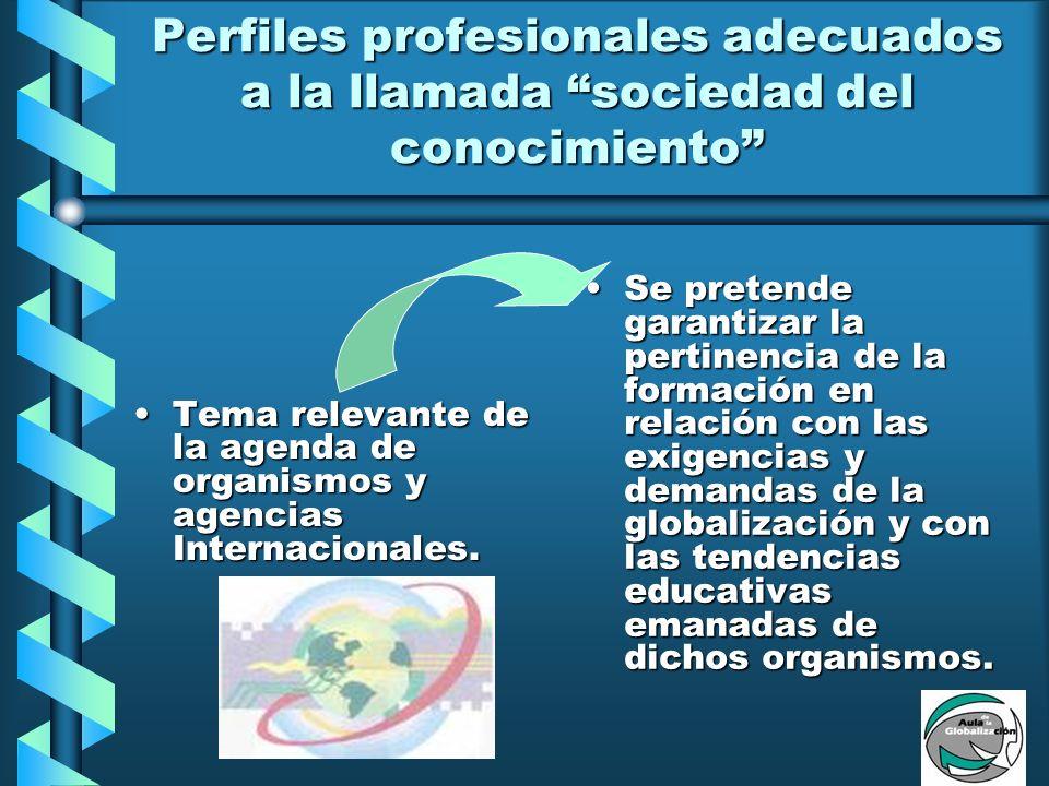 Desarrollo de sistemas de acreditación de programas educativos y certificación de egresados en distintas profesiones Establecimiento de tratados comerciales con otros países.