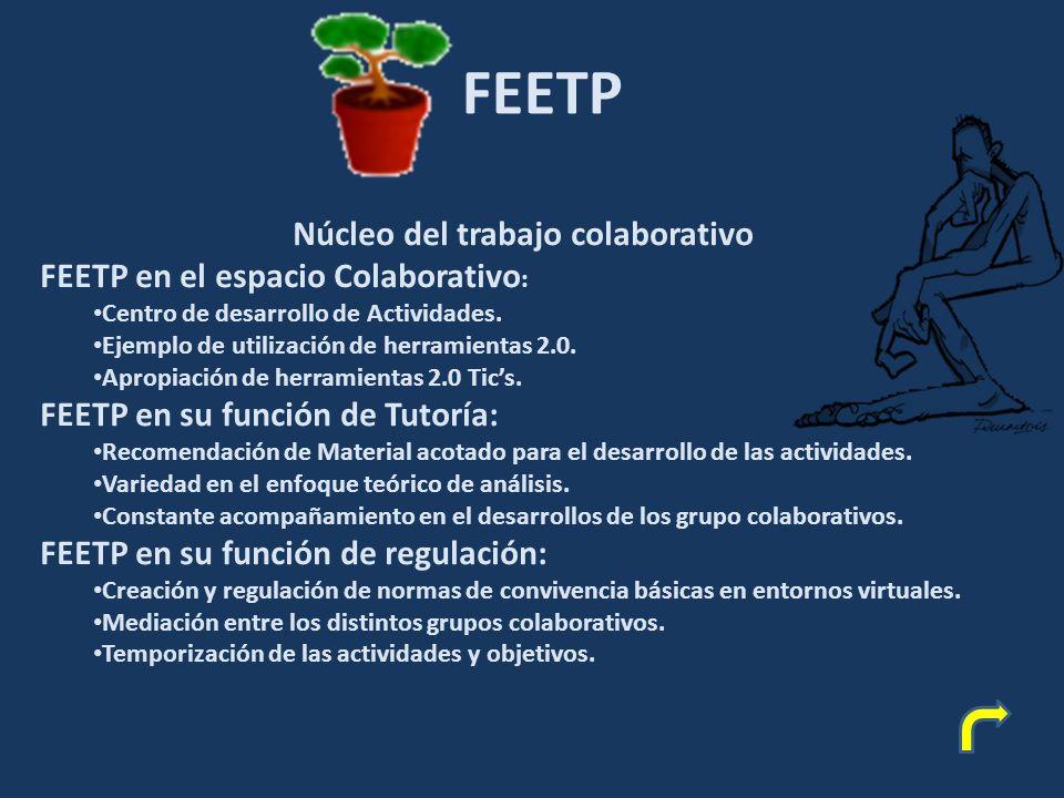 FEETP Núcleo del trabajo colaborativo FEETP en el espacio Colaborativo : Centro de desarrollo de Actividades.