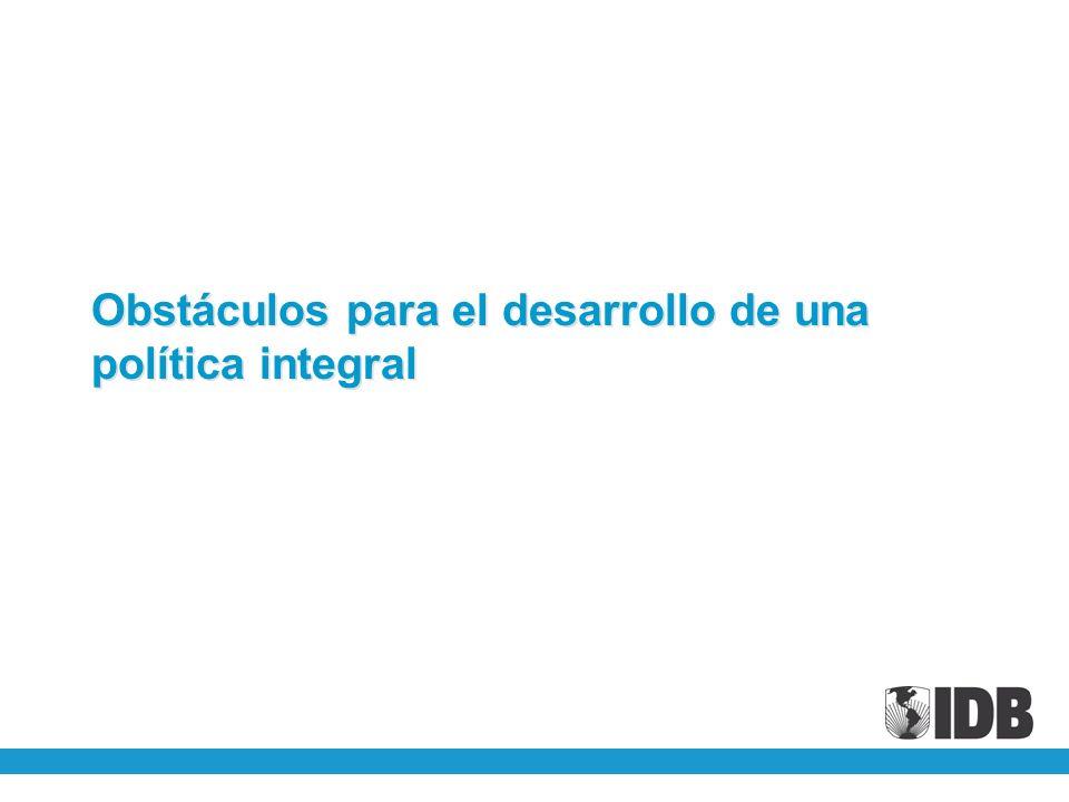 Obstáculos para el desarrollo de una política integral