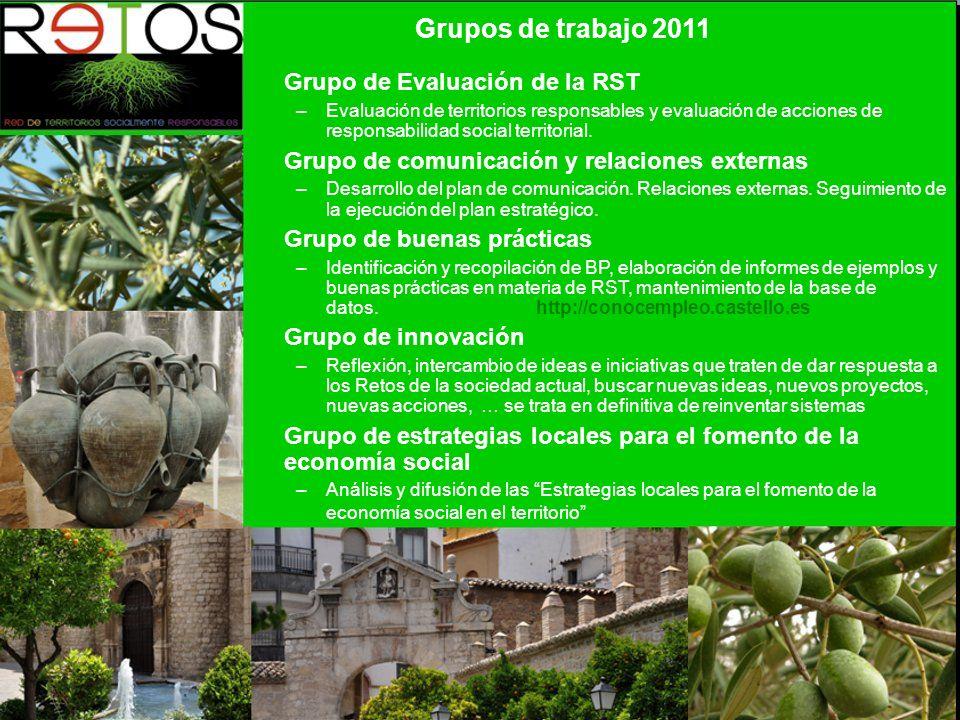 Grupo de Evaluación de la RST –Evaluación de territorios responsables y evaluación de acciones de responsabilidad social territorial.