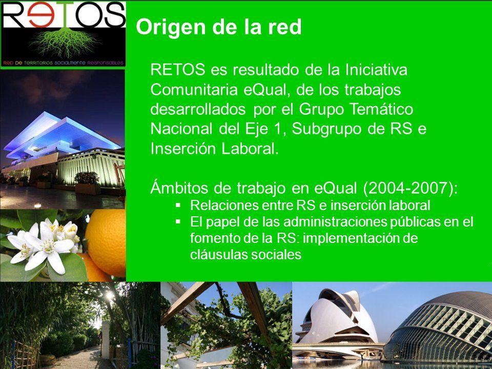 RETOS es resultado de la Iniciativa Comunitaria eQual, de los trabajos desarrollados por el Grupo Temático Nacional del Eje 1, Subgrupo de RS e Inserción Laboral.