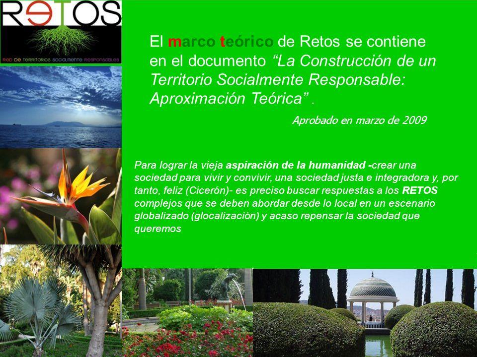 El marco teórico de Retos se contiene en el documento La Construcción de un Territorio Socialmente Responsable: Aproximación Teórica.
