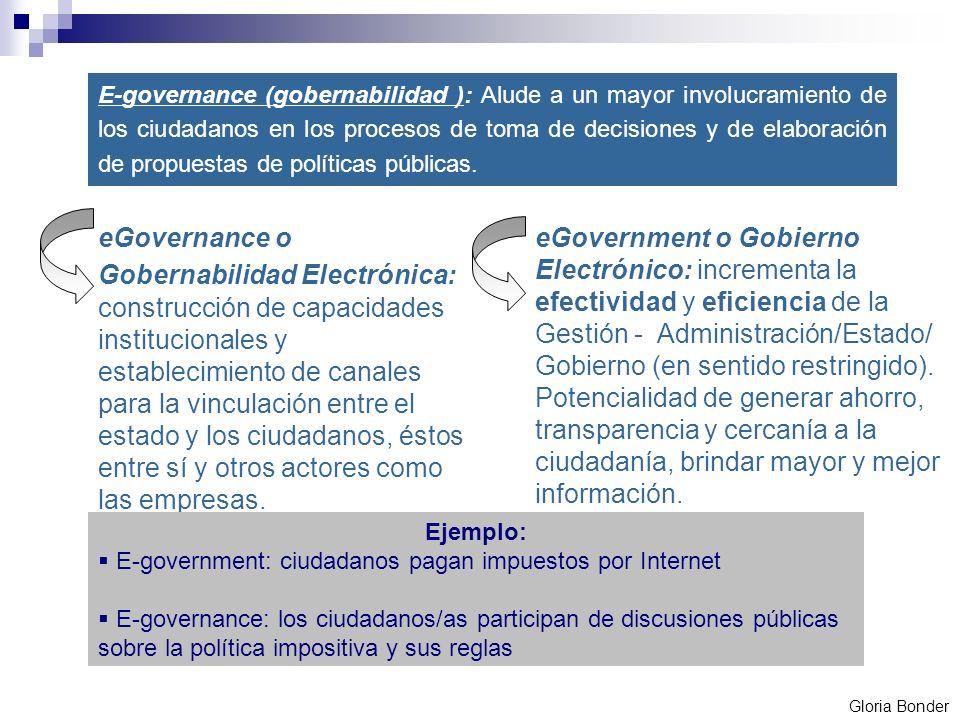 eGovernance o Gobernabilidad Electrónica: construcción de capacidades institucionales y establecimiento de canales para la vinculación entre el estado