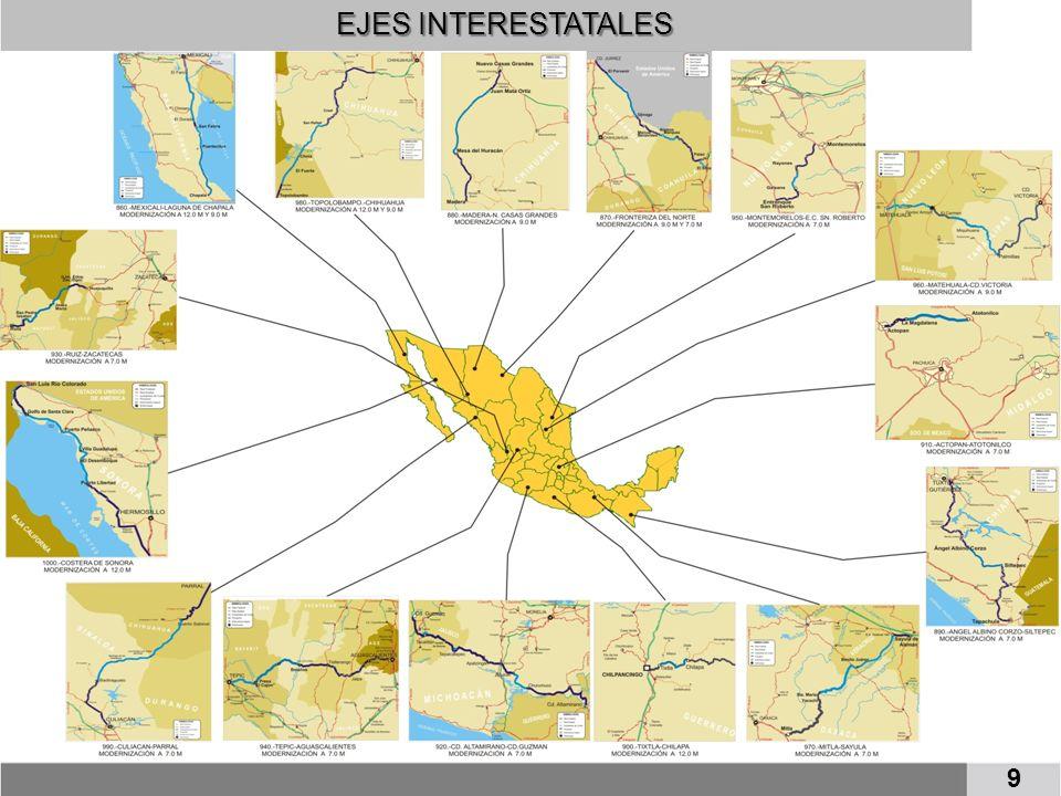 MORELIA-SALAMANCA (EN OPERACION) AMOZOC-PEROTE (EN OPERACION) MONTERREY-SALTILLO Y LIBRAMIENTO PONIENTE DE SALTILLO (EN CONSTRUCCIÓN) TEPIC-VILLA UNIÓN (EN OPERACION) LIB.