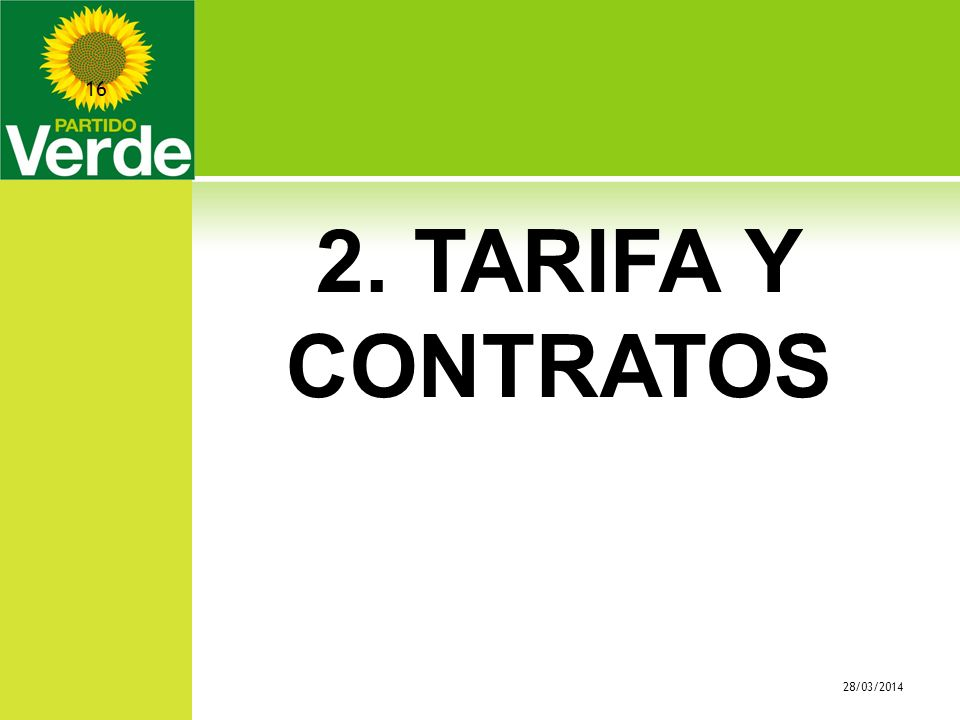 2. TARIFA Y CONTRATOS 28/03/2014 16