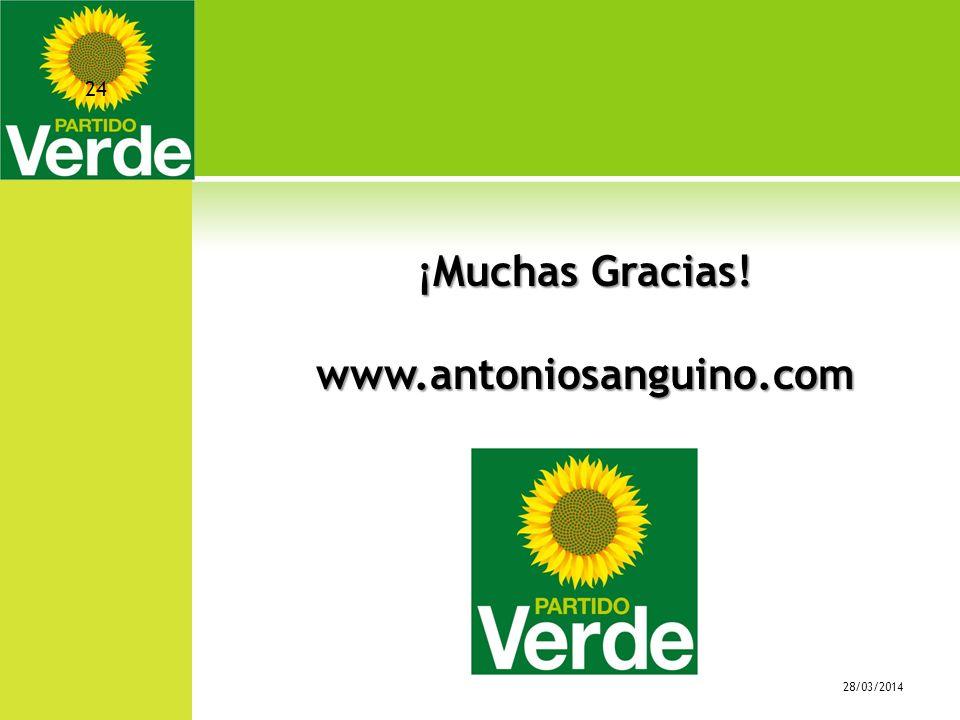 ¡Muchas Gracias! www.antoniosanguino.com 28/03/2014 24