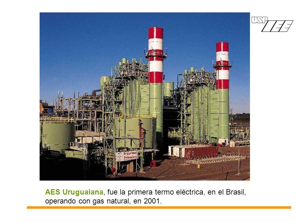 AES Uruguaiana, fue la primera termo eléctrica, en el Brasil, operando con gas natural, en 2001.