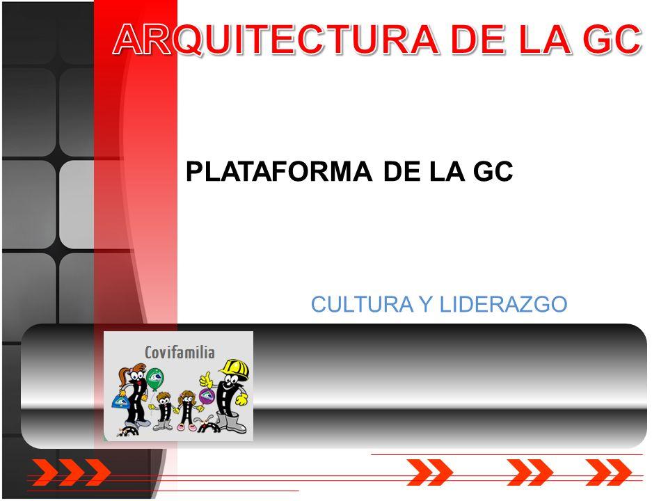 PLATAFORMA DE LA GC CULTURA Y LIDERAZGO