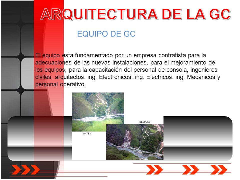 EQUIPO DE GC El equipo esta fundamentado por un empresa contratista para la adecuaciones de las nuevas instalaciones, para el mejoramiento de los equi