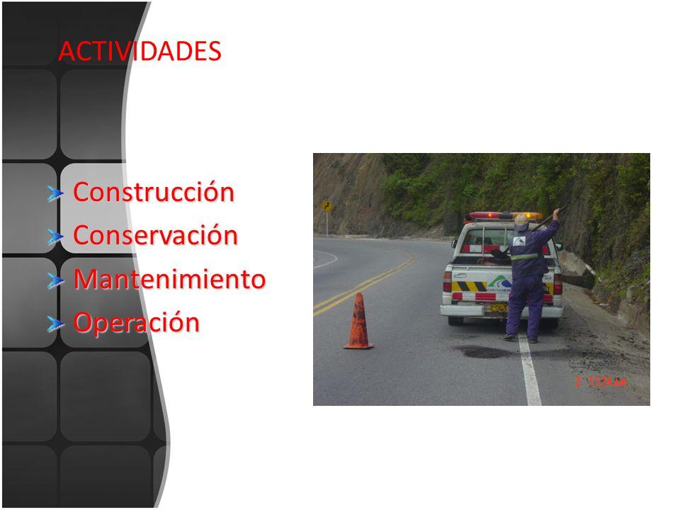 ACTIVIDADES ConstrucciónConservaciónMantenimientoOperación