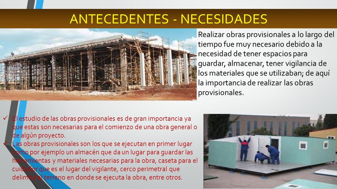 SEGURIDAD CONSTRUCCIONES PROVICIONALES INSTALACIONES PROVICIONALES MEJORES RESULTADOS OBRAS PROVISIONALES