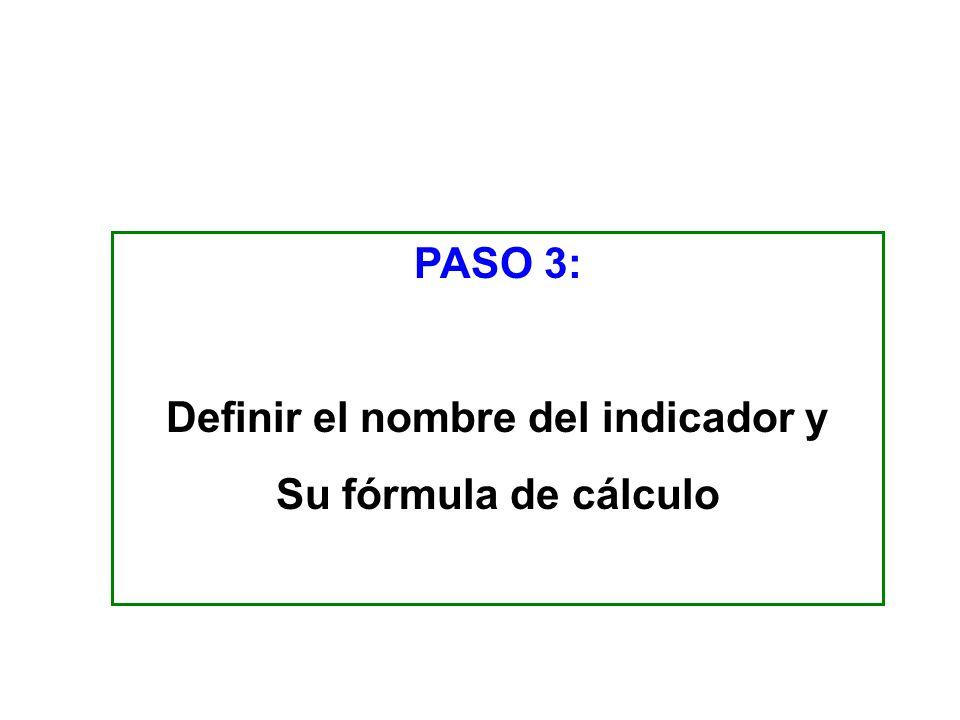 Tipos de fórmulas más usadas Porcentaje (proporciones) Tasa de variación Razón o promedio Índices FORMULA DE CÁLCULO