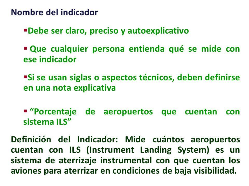Cómo se construyen los indicadores: