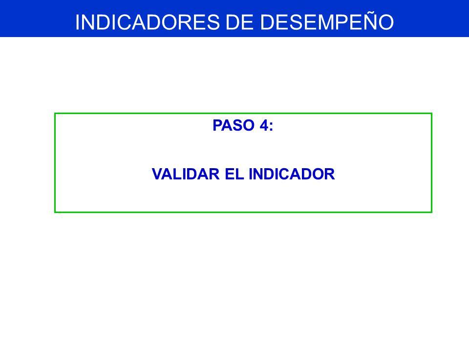 Cada indicador propuesto debe ser validado técnicamente, según los siguientes criterios: 1.