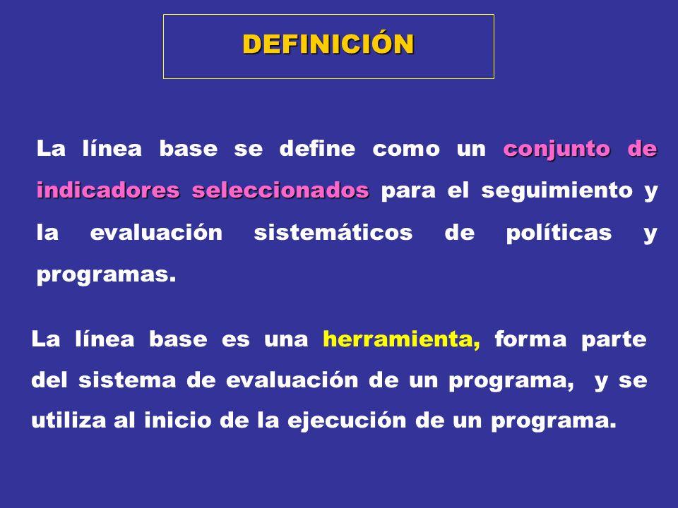 El propósito central de un Estudio de Base es generar información sobre la situación inicial de la población objetivo de un programa, su zona de influencia y el contexto en el que se desarrolla.