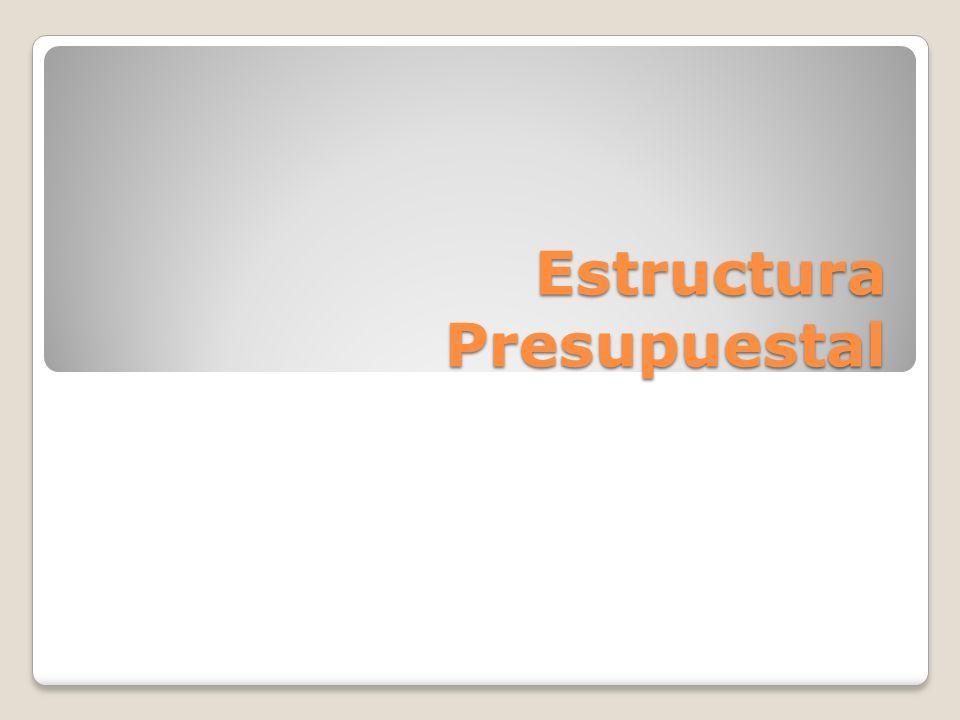 Estructura Presupuestal