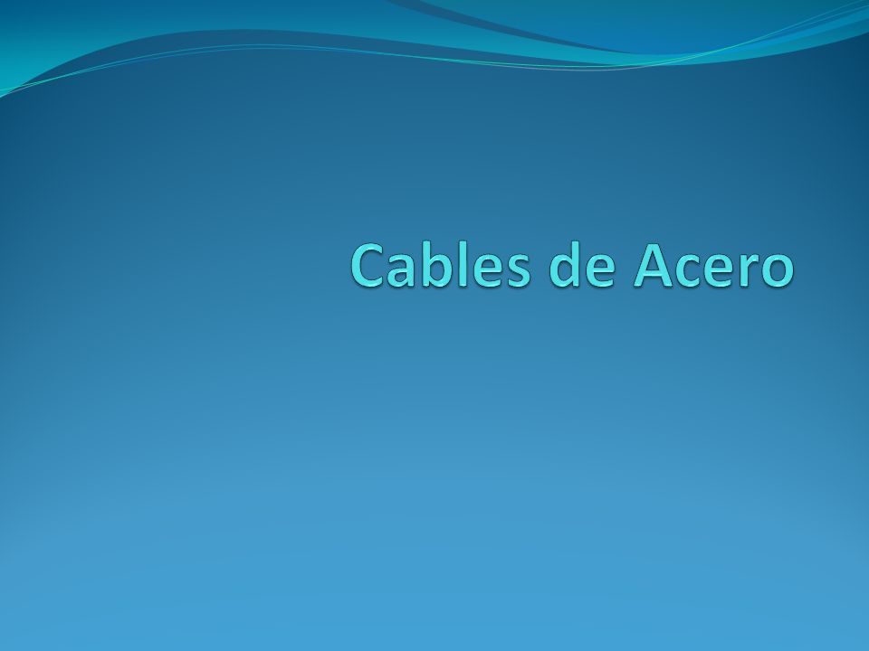 Los cables son elementos flexibles debido a sus dimensiones transversales pequeñas en relación con la longitud, por los cual su resistencia es solo a tensión dirigida a lo largo del cable.