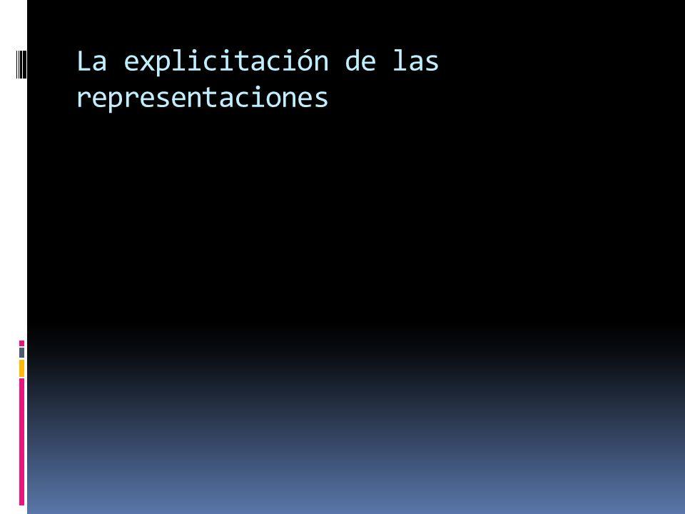 La explicitación de las representaciones
