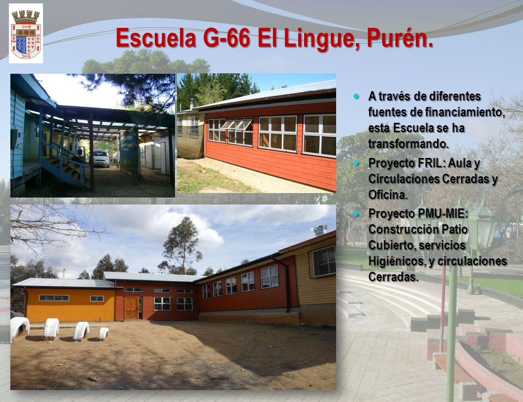 Escuela G-46 Tranaman, Purén. A través de diferentes fuentes de financiamiento, esta Escuela se ha transformando. A través de diferentes fuentes de fi