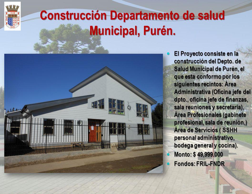 Reposición de Emergencia Biblioteca Publica Luciano Huichalaf Alcapan. El Proyecto consiste en la construcción de Emergencia, de la Biblioteca e Infoc