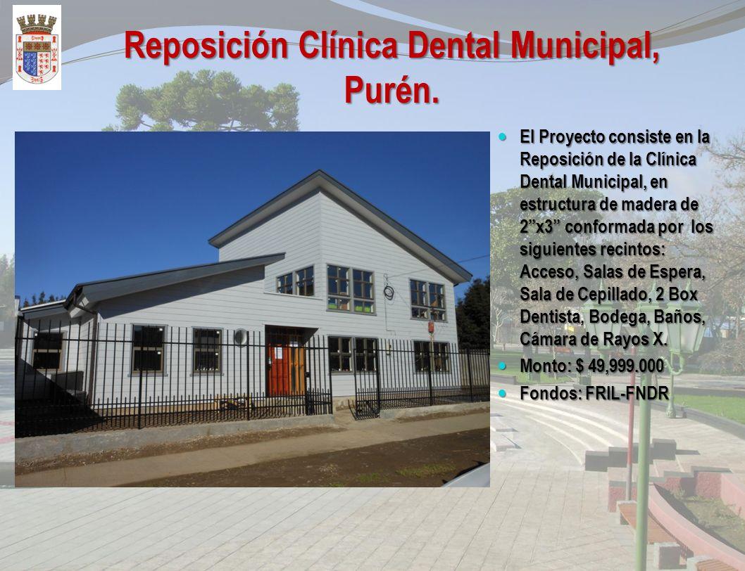 Construcción Departamento de salud Municipal, Purén. El Proyecto consiste en la construcción del Depto. de Salud Municipal de Purén, el que esta confo
