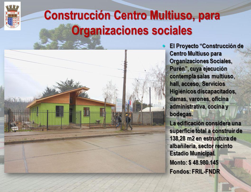 Reposición Clínica Dental Municipal, Purén. El Proyecto consiste en la Reposición de la Clínica Dental Municipal, en estructura de madera de 2x3 confo