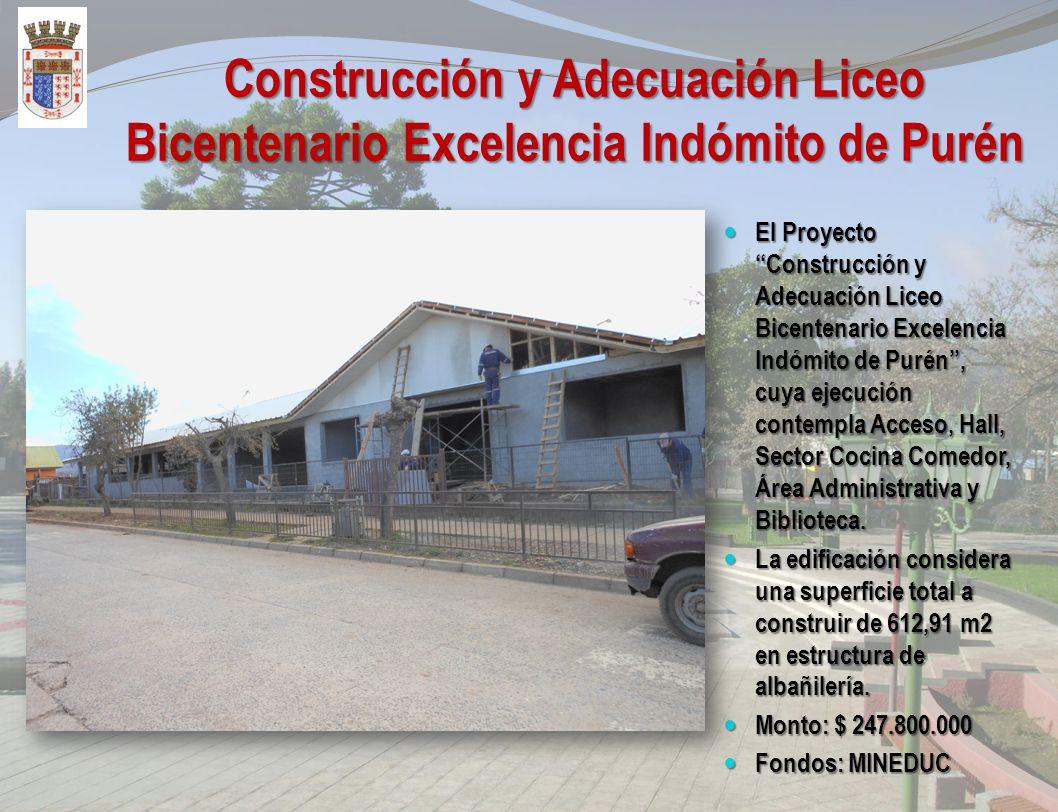 Construcción Centro Multiuso, para Organizaciones sociales El Proyecto Construcción de Centro Multiuso para Organizaciones Sociales, Purén, cuya ejecu