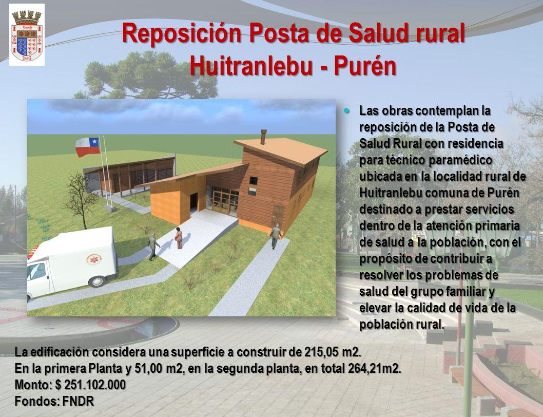 Construcción Centro de Emprendimiento Productivo Purén El Proyecto Construcción de Centro Emprendimiento Productivo Purén, cuya ejecución contempla sa