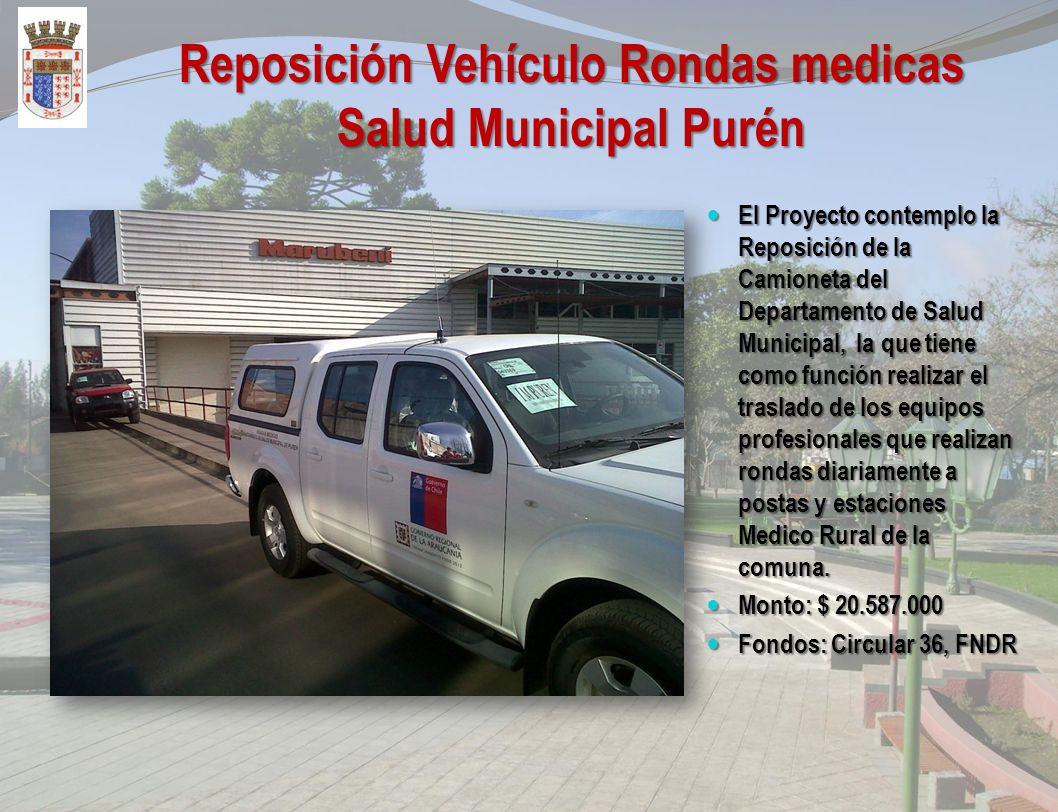 Normalización Posta de Salud Rural Coyancahuin - Purén Las obras contemplan la Normalización de la Posta de Salud Rural con residencia para técnico pa