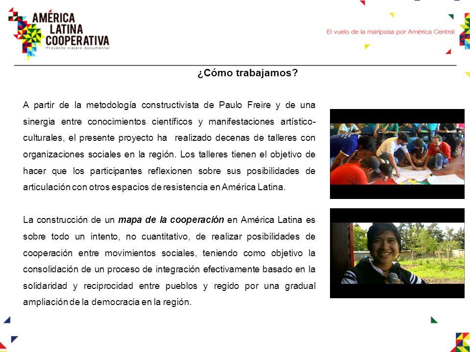 Nuestros objetivos - Fomentar y retratar una estética de la cooperación que sea capaz de fortalecer los vínculos entre organizaciones que buscan transformar el futuro de América Latina, a través de videos documentales que transmitan un mensaje claro y preciso de esta realidad.