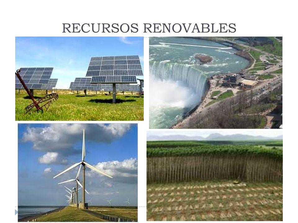 RECURSOS RENOVABLES Y NO RENOVABLES Los recursos naturales no renovables son generalmente depósitos limitados o con ciclos de regeneración muy por debajo de los ritmos de extracción o explotación (minería, petróleo, etc).
