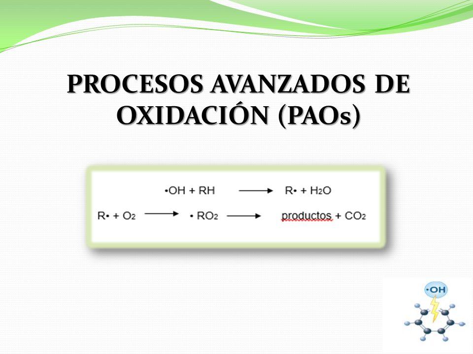 PROCESOS AVANZADOS DE OXIDACIÓN (PAOs)