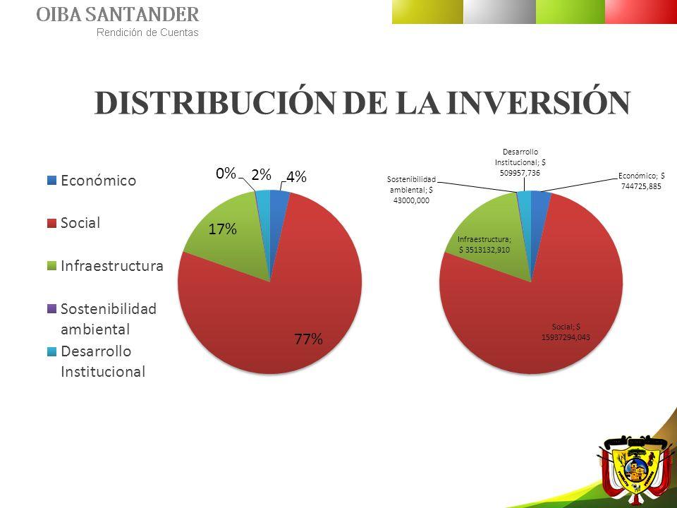 DISTRIBUCIÓN DE LA INVERSIÓN