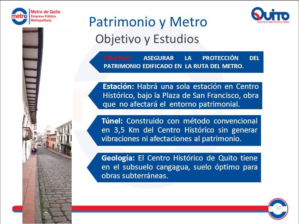 Túnel: Construido con método convencional en 3,5 Km del Centro Histórico sin generar vibraciones ni afectaciones al patrimonio.