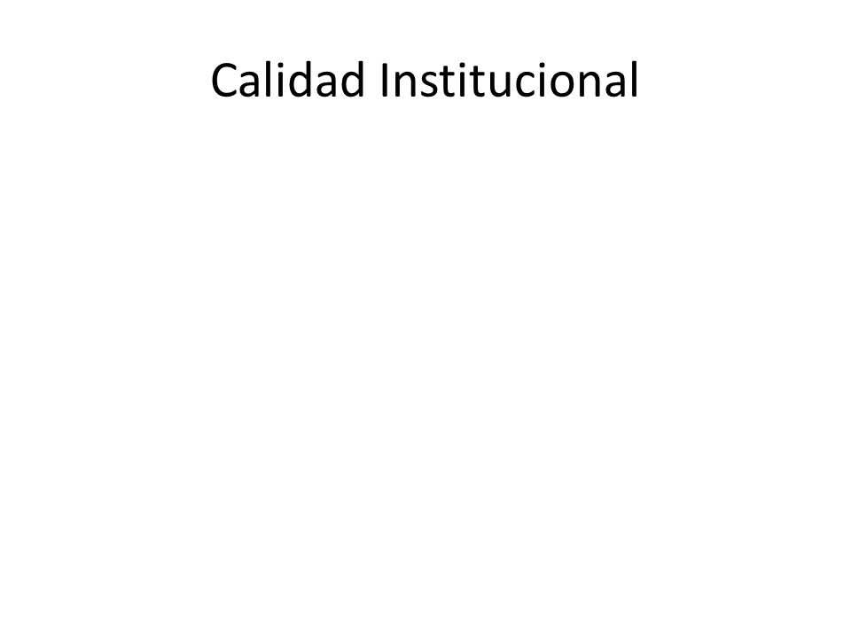 ¿Qué es la Calidad Institucional.