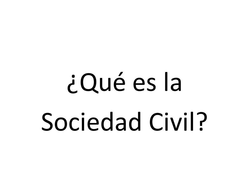 ¿Qué es la Sociedad Civil