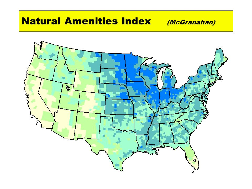 Natural Amenities Index (McGranahan)