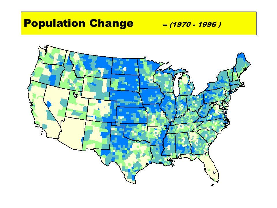 Population Change -- (1970 - 1996 )